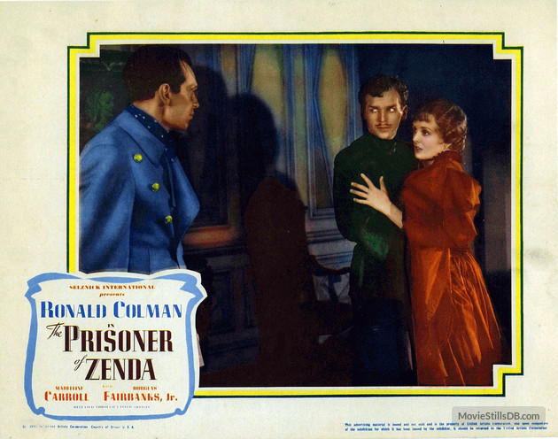 The Prisoner of Zenda (1937) lobby card