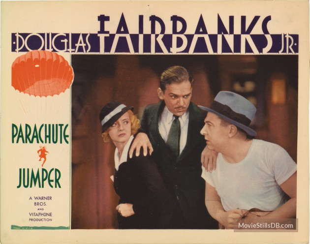 Parachute Jumper (1933) Review lobby card 1