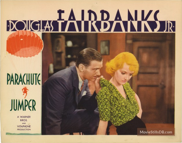 Parachute Jumper (1933) Review lobby card 3