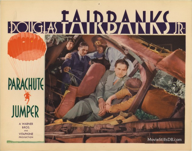 Parachute Jumper (1933) Review lobby card 4