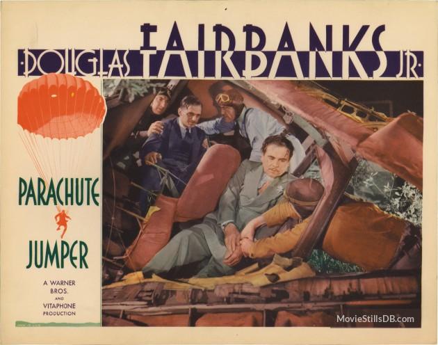 Parachute Jumper (1933) Review lobby card 4