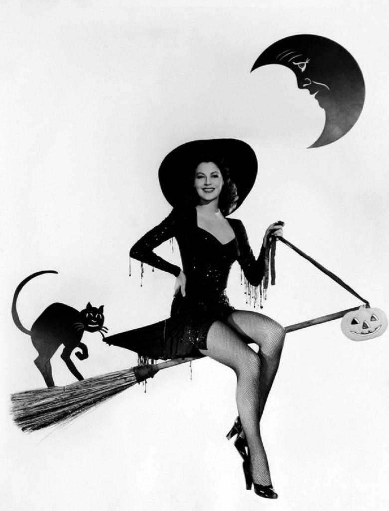 Vintage Halloween Pinup Ava Gardner